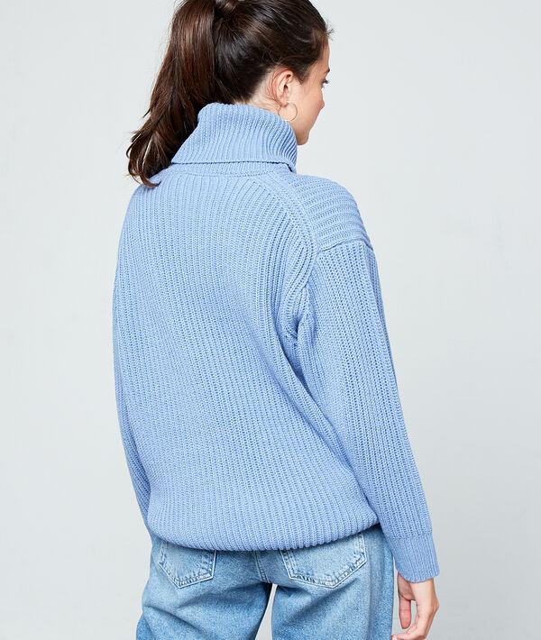 Jersey cuello alto punto grueso