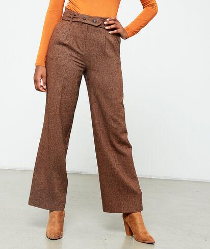 Pantalón largo con cinturón