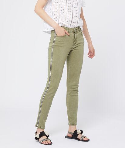 Pantalón ajustado con franjas laterales