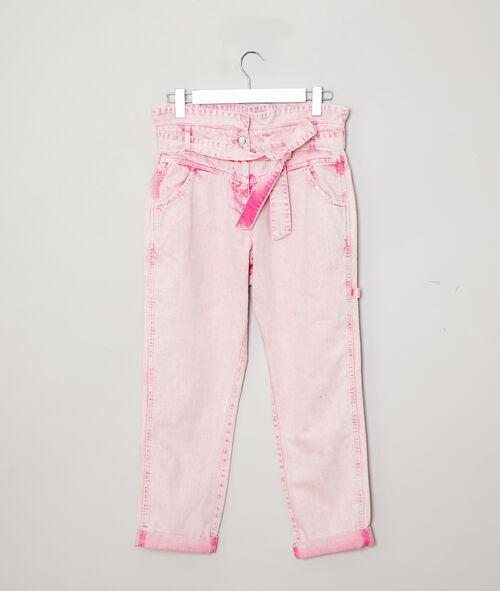 Pantalón ancho efecto desteñido