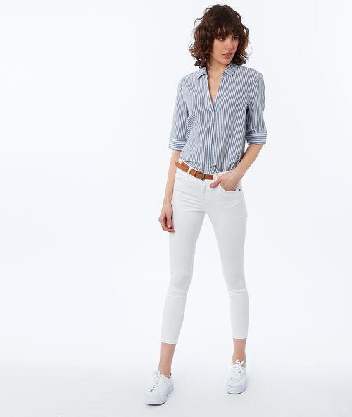 Camisa algodón estampado de rayas