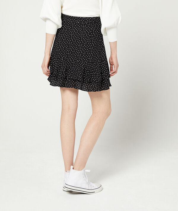 Falda patinadora de lunares