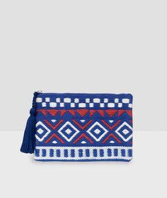 Monedero inspiración tribal azul.