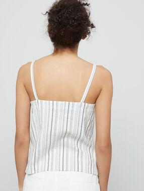 Camisola a rayas 100% algodón crudo.