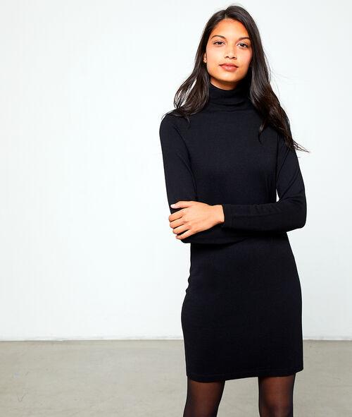 Vestido Jersey De Cuello Alto