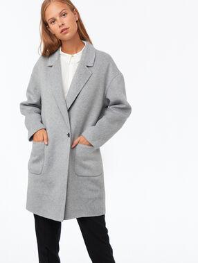 Abrigo oversize c.gris claro.