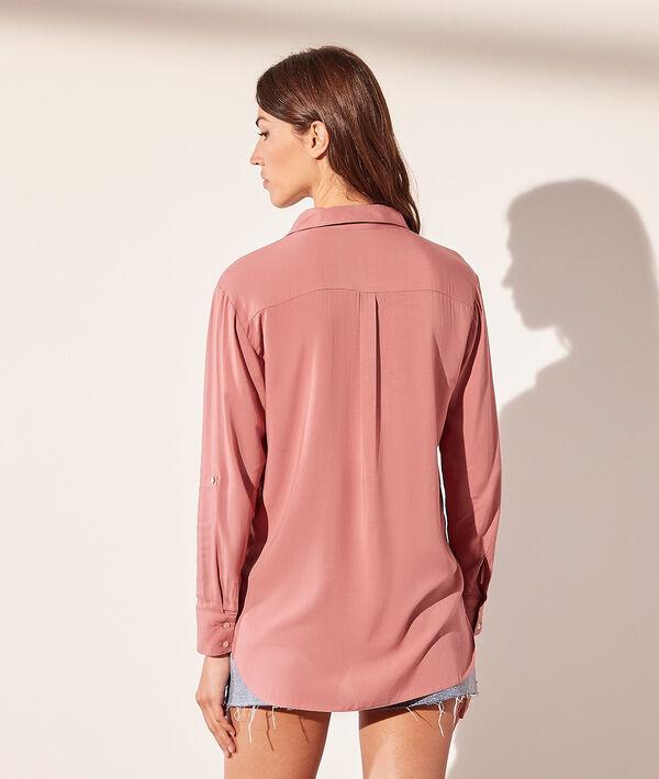 Camisa de viscosa con bolsillo