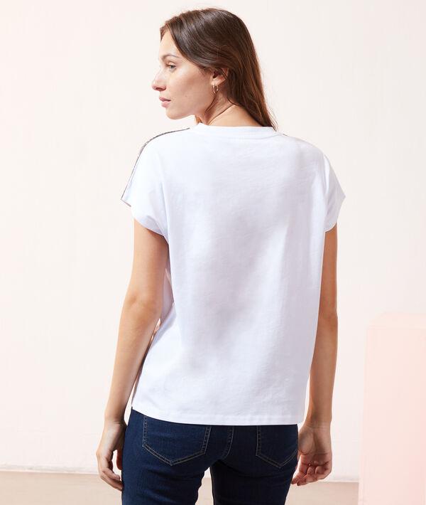 Camiseta franjas metalizadas