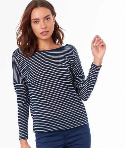 Camiseta 3/4 estampado de rayas
