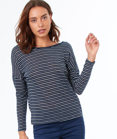 T-shirt manches 3/4 à rayures