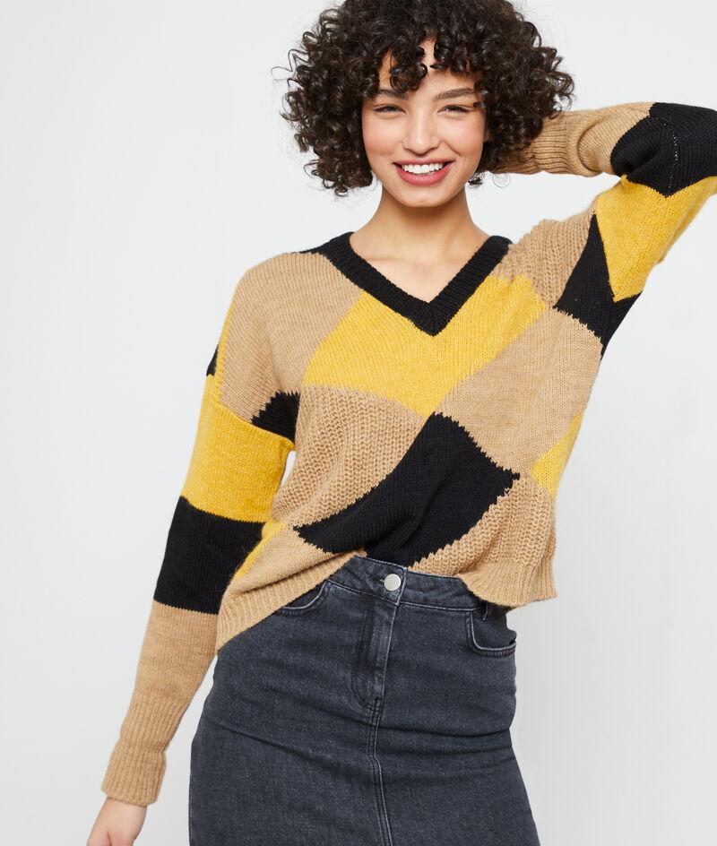 Suéter gráfico de punto grueso
