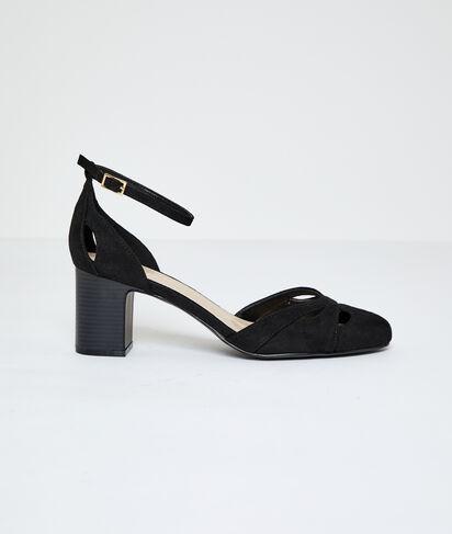Sandalias de talón efecto ante