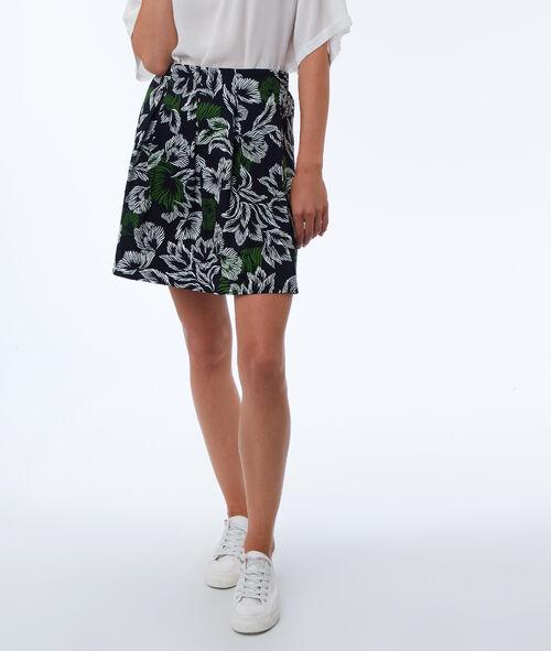 Falda estampado tropical