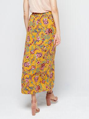 Falda larga estampado floral c.ocre.