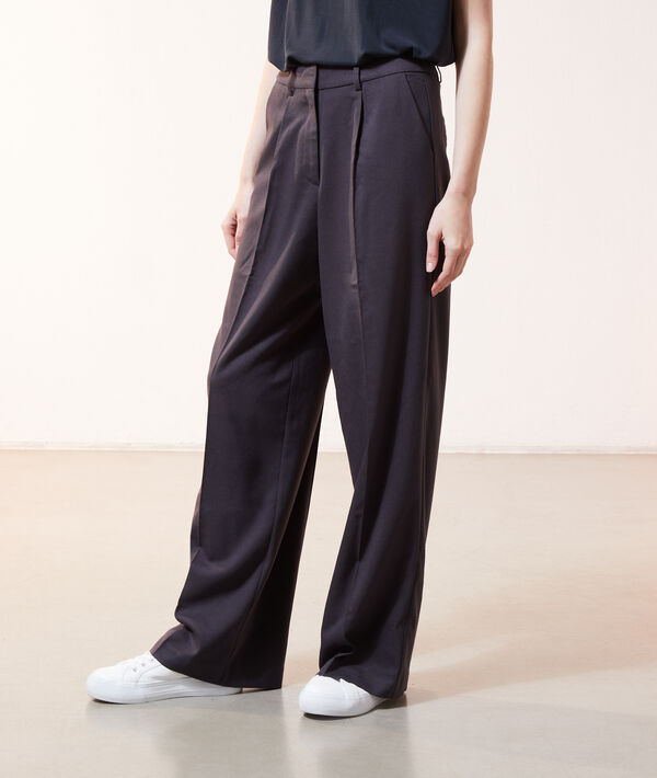 Pantalon large à pinces