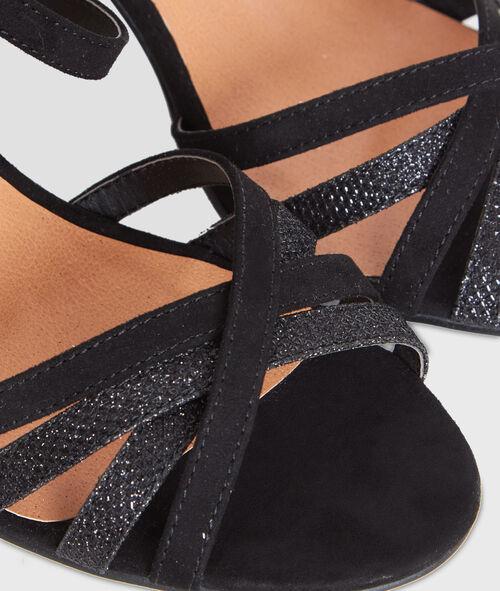 Sandales à talons lanières pailletées