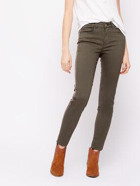 Pantalón skinny con franjas laterales c.caqui.