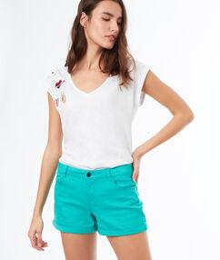 Pantalón corto liso vert.