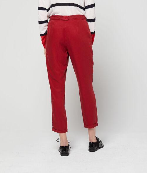 Pantalón con cinturón de Tencel