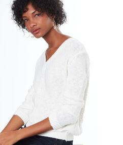 Jersey escote en v blanco.