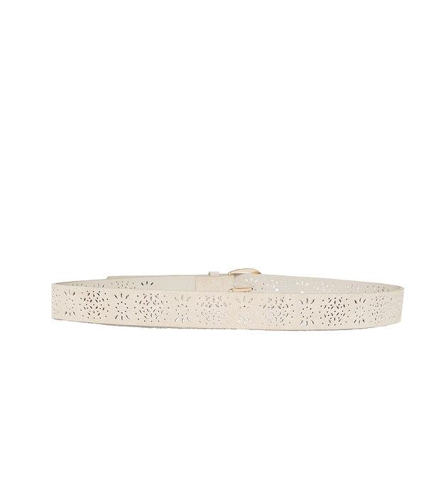Cinturón perforado con recubrimiento de cuero