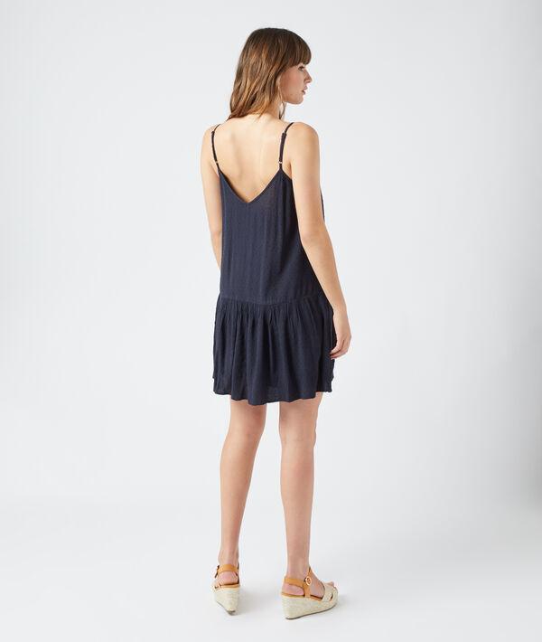 Vestido corto tul plumeti