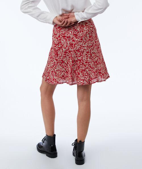 Falda estampada con cinturón