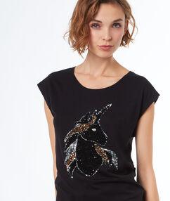 T-shirt fantaisie black.