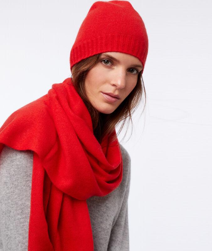 Bufanda 100% cachemir rojo.