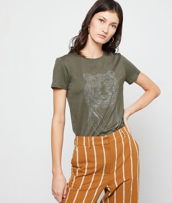 Camiseta serigrafiada tigre