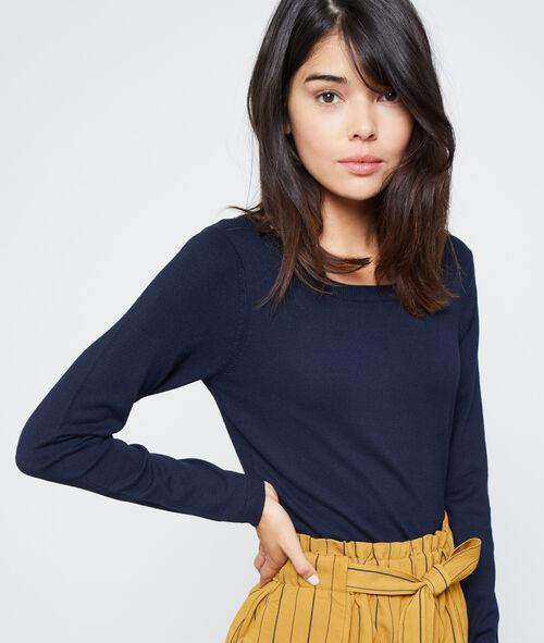 Suéter cuello redondo punto fino