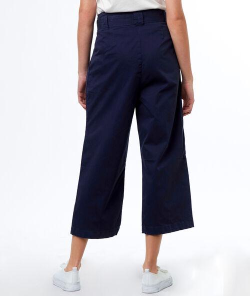Pantalón largo ancho algodón con lazada