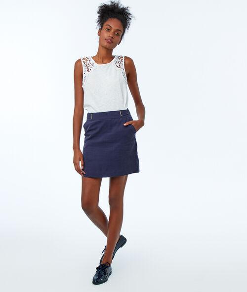 Falda recta tencel