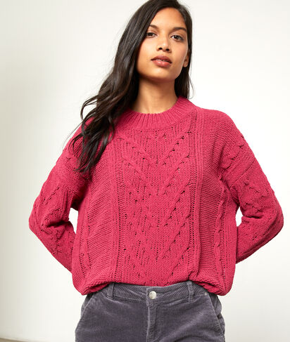Suéter de punto trenzado
