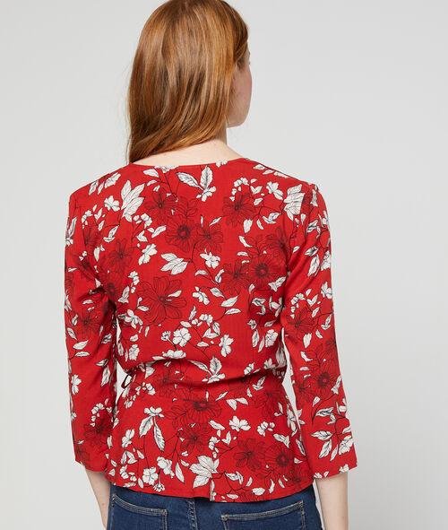 Blusa escote cruzado estampado floral