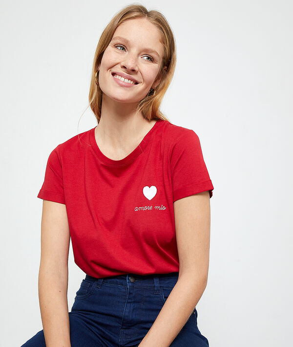 Camiseta 'Amore mio' bordado