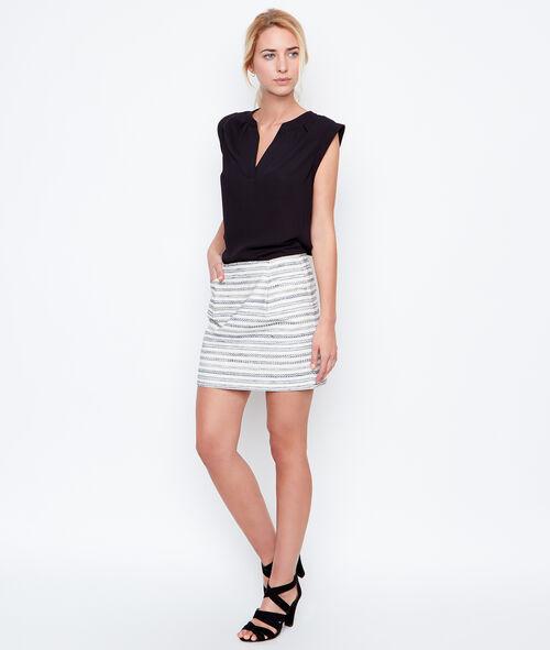 Blusa sin mangas escote en V