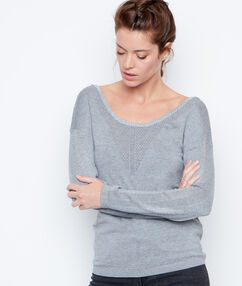 Jersey fino cuello redondo c.gris.