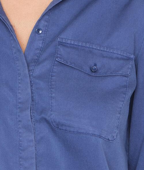 Camisa estilo militar manga larga