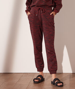 Pantalón jogger cebra