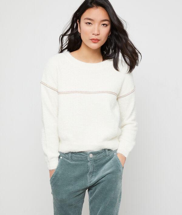 Suéter de hilo metalizado