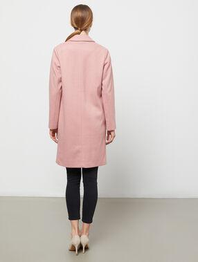 Abrigo masculino rosa.