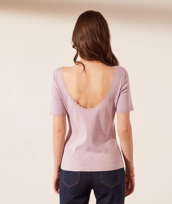 Camiseta abertura espalda