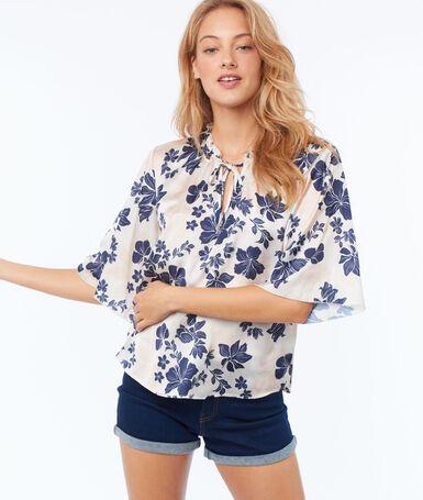 Blusa estampado floral c.nude.