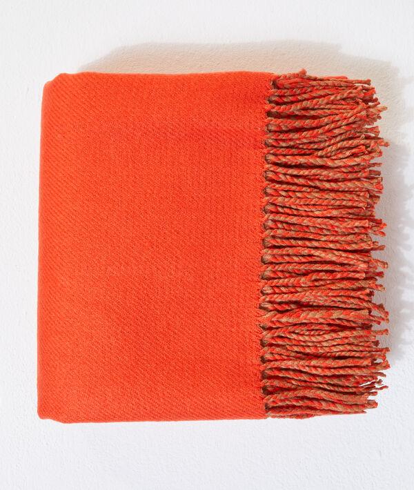 Bufanda bicolor con flecos