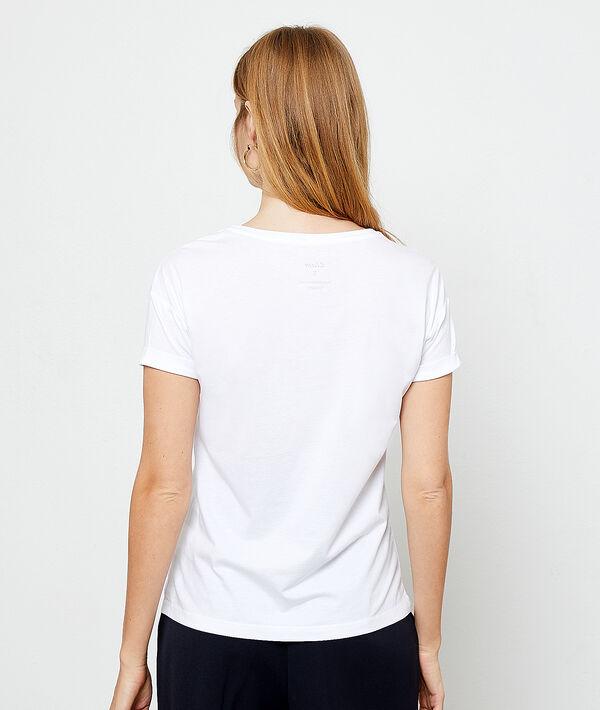 Camiseta bordada con algodón orgánico