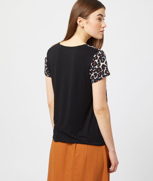 Camiseta estampado de leopardo