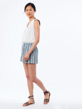 Pantalón corto estampado de rayas c.denim.