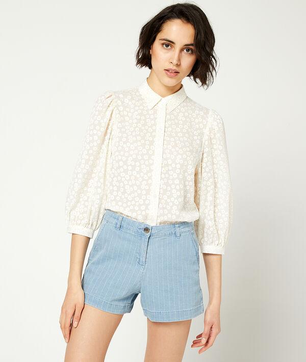 Pantalón corto estampado de rayas