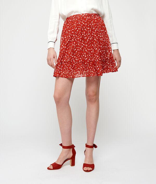 Falda patinadora estampado floral